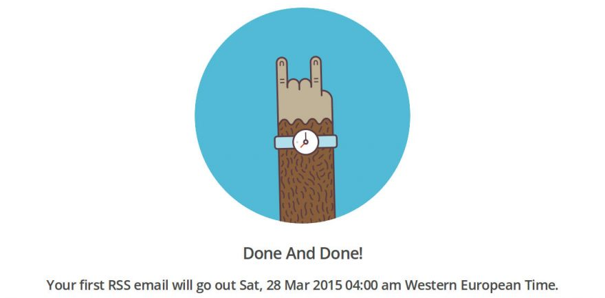 MailChimp RSS Done and Done