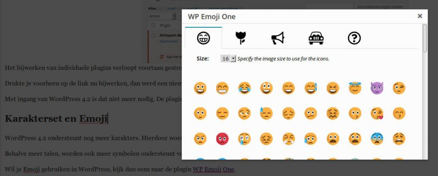 WP Emoji One screenshot