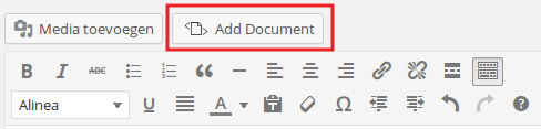 Embed Any Document knop